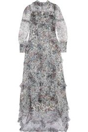 ErdemStacey ruffled floral-print tulle gown