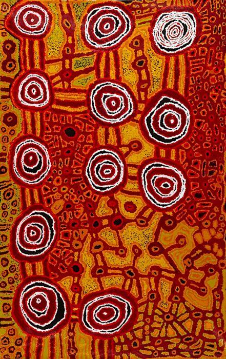Aboriginal art - Beryl Jimmy ~ Kapi Tjukula, 2011