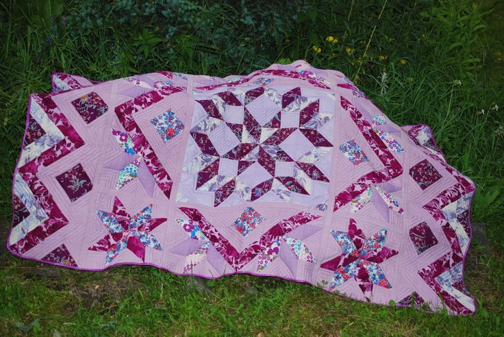 Штучки и штуковины: Лоскутное одеяло для Танюши