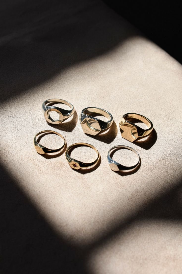 Our signet ring family. myeldesign.com