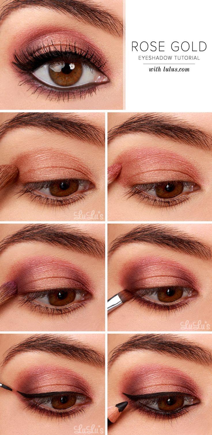 LuLu * s How-To: oro rosa de sombra de ojos Tutorial en LuLus.com!