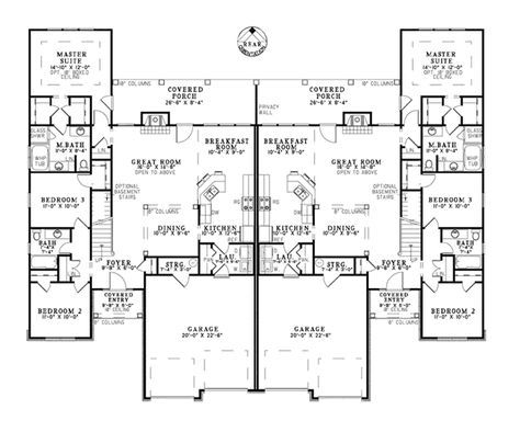 Best 25 duplex house plans ideas on pinterest duplex plans duplex floor plans and duplex house - Luxury duplex house plans ...