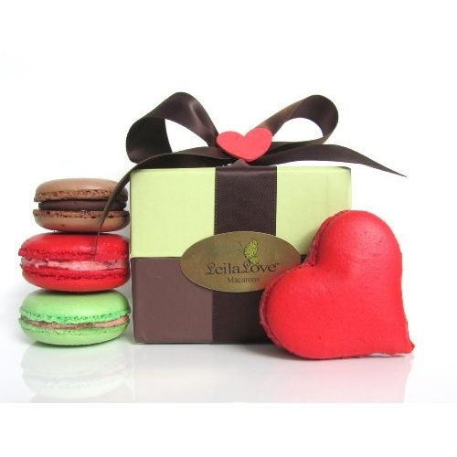 Leilalove Heart Macarons, 4 Quantities 4 Flavors  One Heart Shaped Macarons  Three Round Ones