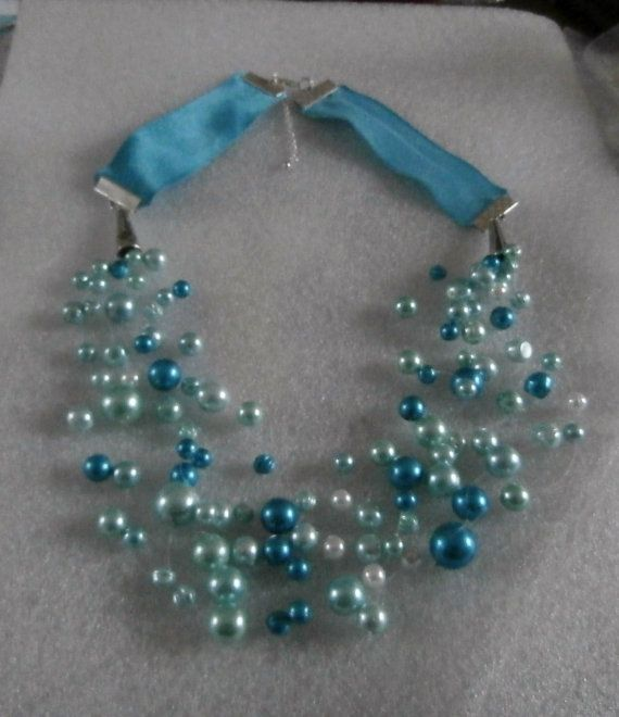 Pearl Illusion Necklace by WearMyJewellery on Etsy, £8.00