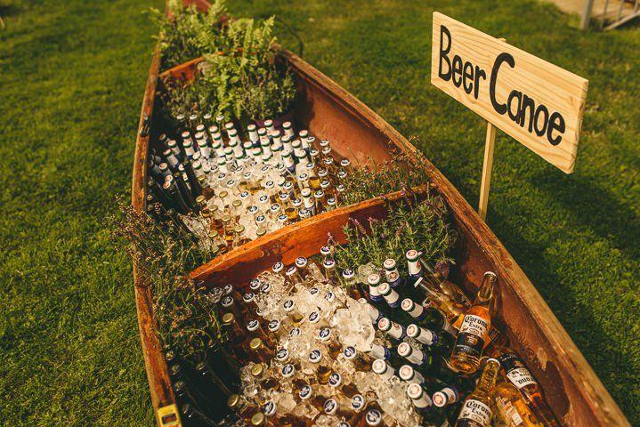 outdoor boho wedding drink serve ideas