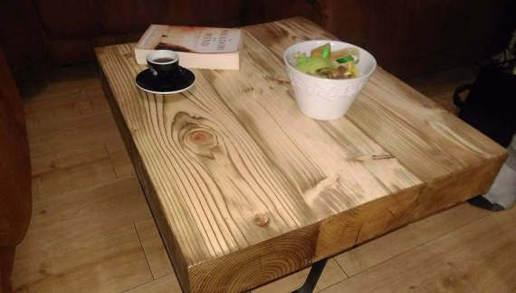 Reclaimed Wood Coffee Table Reclaimed Sleepers. by TheWoodForgeCo