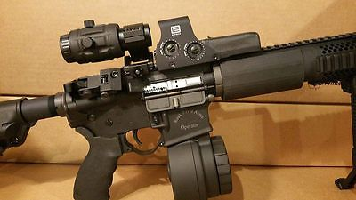 ﹩549.00. Eotech 512 with 3x Vector Optics Magnifier Flip to Side 512.A65 Red Dot Scope    Type - Eotech 512.A65 3x Vector Optics Magnifier, Reticle Color - Red,