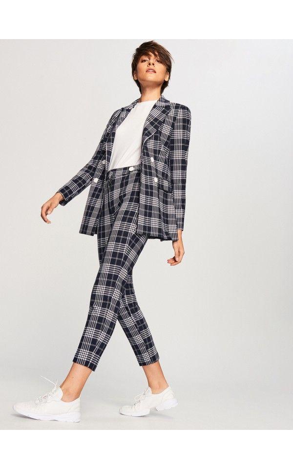 404d2e21c12f8 Garniturowe spodnie w kratę, Garnitury, komplety, wielobarwn, RESERVED
