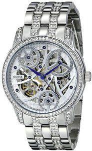 GUESS Women's U25004L1 Elegant Automatic Silver-Tone Watch   watches.reviewatoz.com