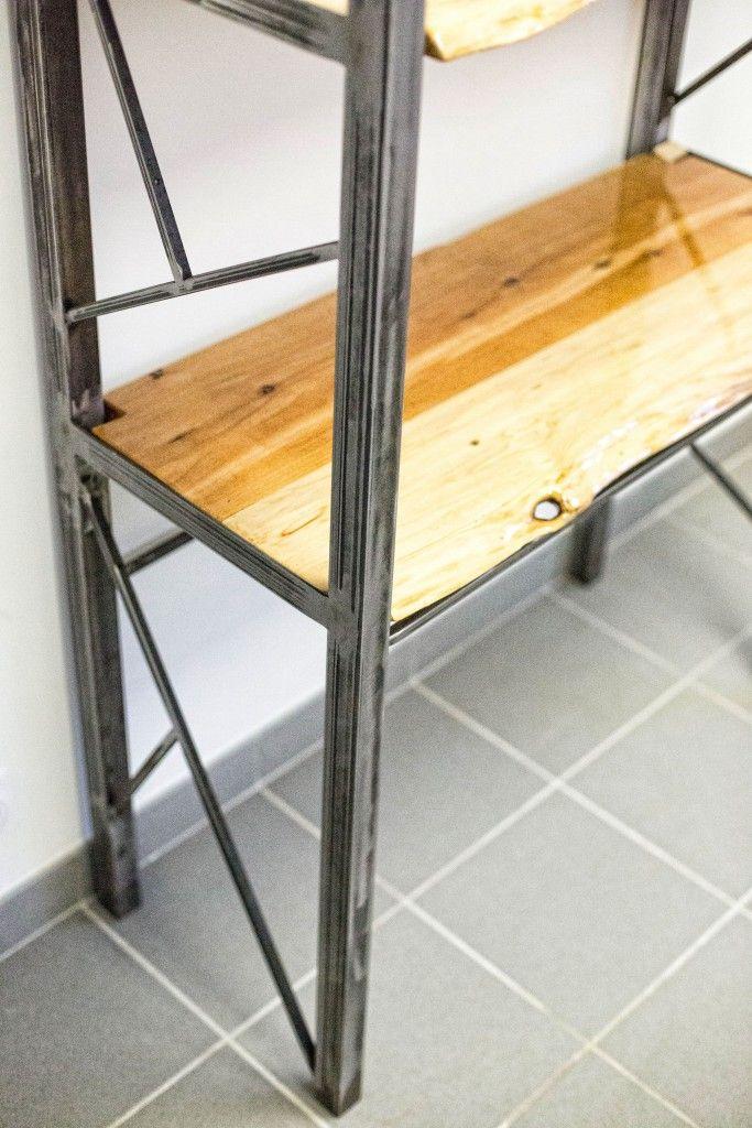 cr ation d tag re et meubles de rangement steel home cr e votre tag re ou votre meuble de. Black Bedroom Furniture Sets. Home Design Ideas