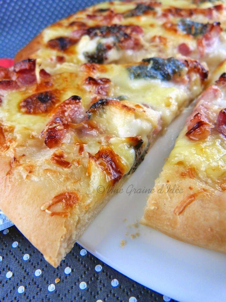 Pizza, Lardons, Chèvre, Miel, Crème Fraîche, Isigny, Selles Sur Cher,