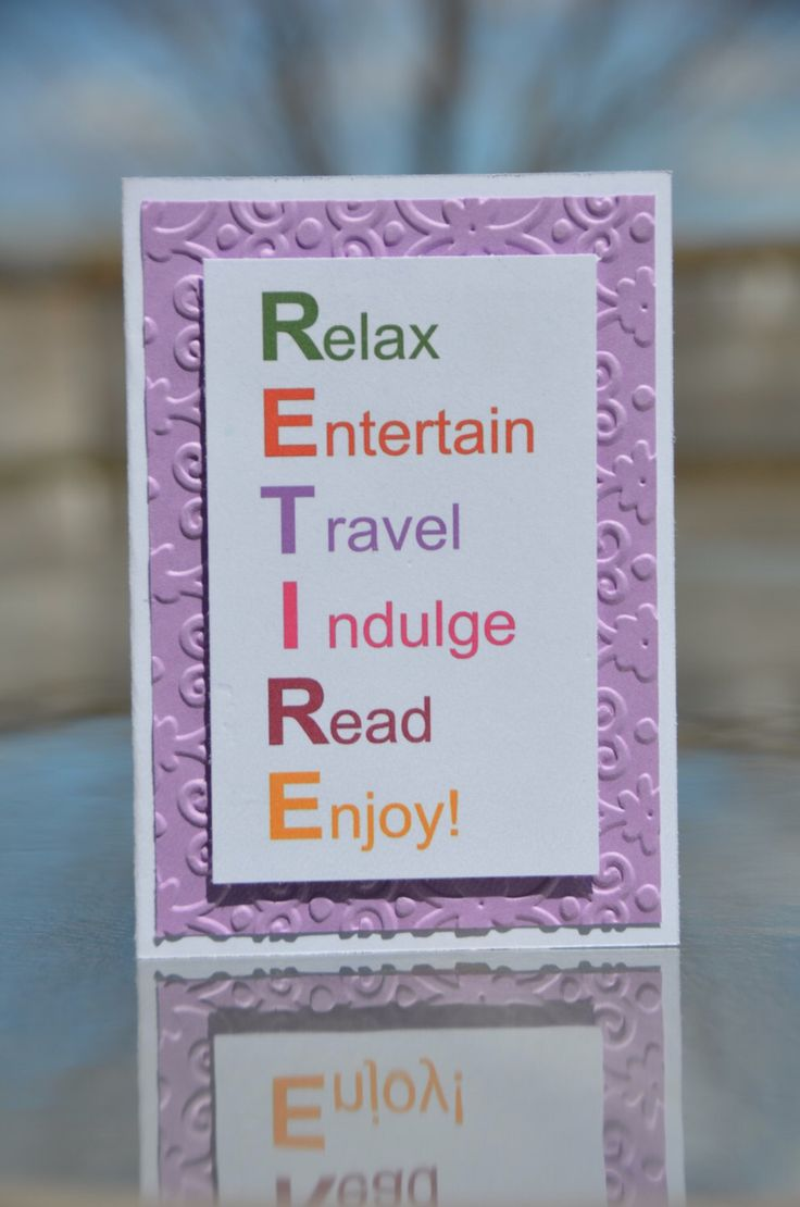 Hand Embossed RETIRE Retirement Greeting Card with Matching Envelope by LoveThoseCards on Etsy https://www.etsy.com/listing/231566794/hand-embossed-retire-retirement-greeting