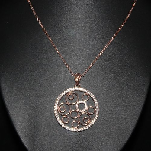 Rose Gold Necklace With Quality Czechoslovakian Crystals