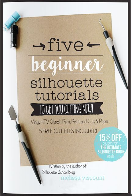 The Ultimate Silhouette Beginners Guide written by the author of Silhouette School blog. The perfect 10 page guide for getting started with Silhouette CAMEO or Portrait! This guide includes 5 Silhouette project tutorials designed with free cut files specifically for Silhouette newbies! Available in paperback or as an instant download ebook ultimatesilhouetteguide.com
