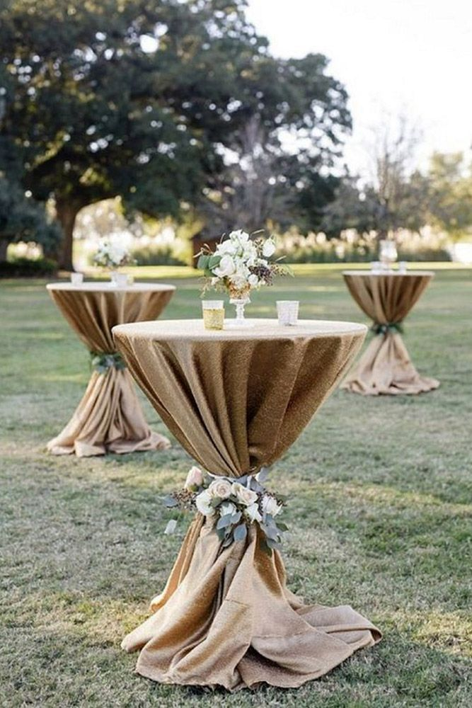 rustic wedding ideas tall round table