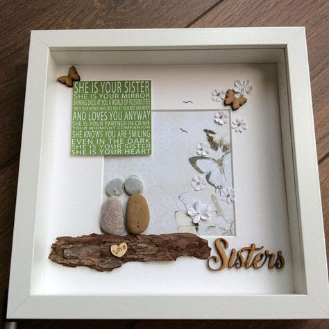 The 25 best sister birthday gifts ideas on pinterest birthday pebble art sisters gift for her gift for sister wall art negle Gallery