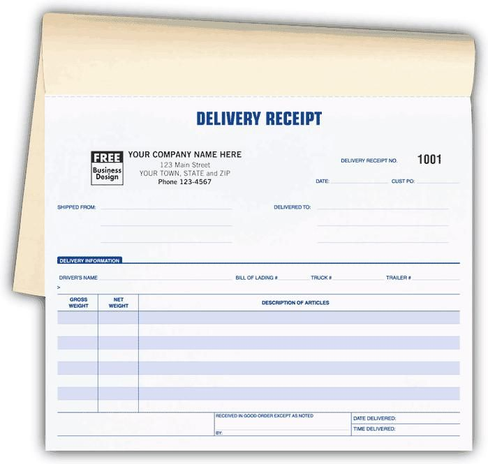 Delivery Receipts Book Carbonless Printing Book Print Good Essay Lettering