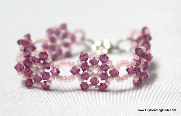 Beaded Flower Bracelet Tutorial