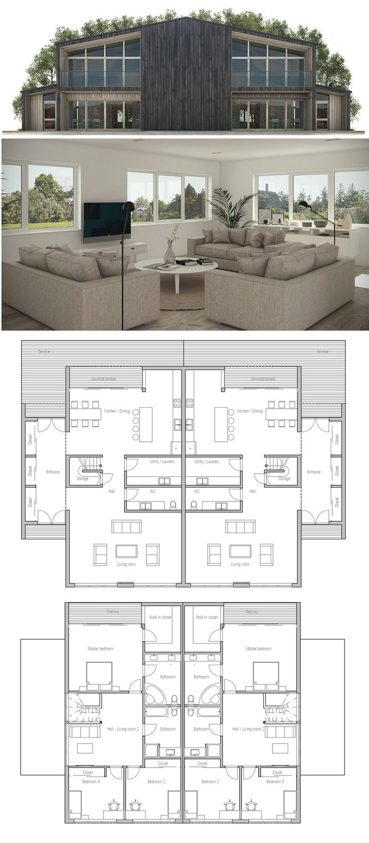 25 best ideas about duplex house plans on pinterest house floor plans one story houses and. Black Bedroom Furniture Sets. Home Design Ideas