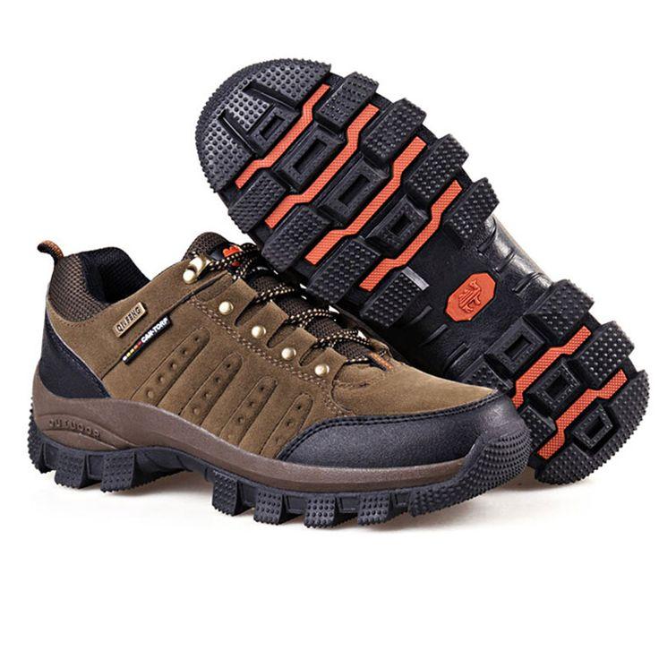 Hot Sale Men's Mountain Shoes Waterproof Outdoor Hiking Climbing Shoes Athletic Trekking Sports Sneakers Big Size EU 38--47