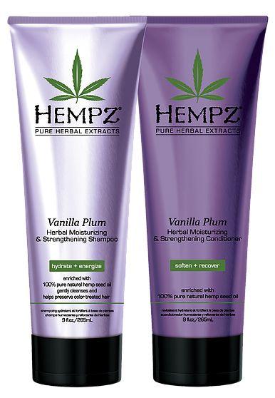 Hempz Vanilla Plum Herbal Shampoo and Conditioner