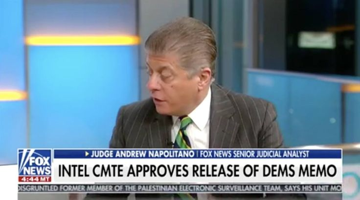 Napolitano thinks this could backfire on Democrats if the memo is released