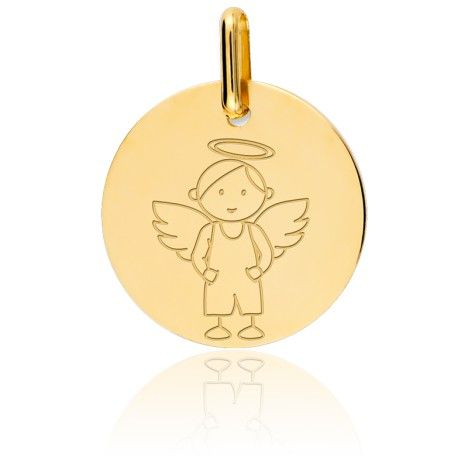 Médaille My Angel Garçon Or Jaune 9K - Lucas Lucor