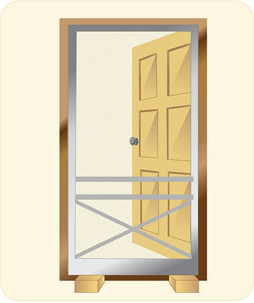 How to Install a Screen Door: 12 steps (with pictures) - wikiHow
