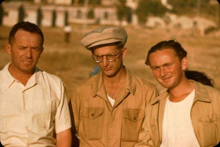 New European immigrants camp outside Jerusalem, July 1950. Katcoff collection.