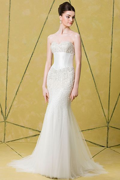 Simple Simple streamlined and thoroughly elegant check out Badgley Mischka wedding dresses Spring collection click the image to Pin your favorite ones