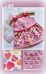 Detské oblečenie - Šatočky srdiečkové (VLV) - 8238645_