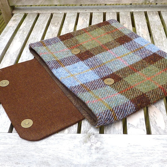 Harris Tweed  iPad Sleeve Case cover in brown and by LifeCovers, $65.00