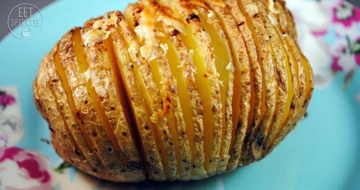 hasselback aardappel / potato - aardappel uit de oven