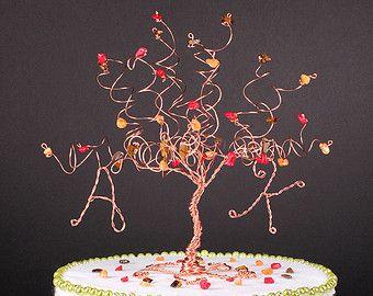 Llanto de flor de cerezo pastel de bodas Topper por CassandraZ