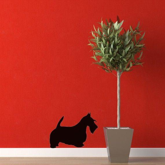 Scottie Dog Vinyl Wall Decal