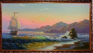У берега моря - Морской пейзаж <- Картины маслом <- Картины - Каталог | Универсальный интернет-магазин подарков и сувениров
