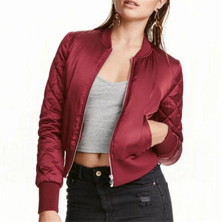 Bomber Jacket Women Aviator Jacket Army jacket Tops casaco feminino jaqueta feminina femme        Jackets Chaquetas Mujer basic #Affiliate