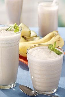Peanut butter and banana smoothie - made with kefir, my new favorite-can't-live-without.