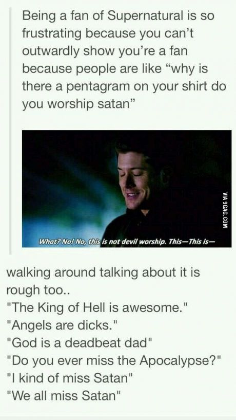 The problem of being a Supernatural fan.