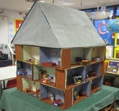 Victorian dolls house classroom display