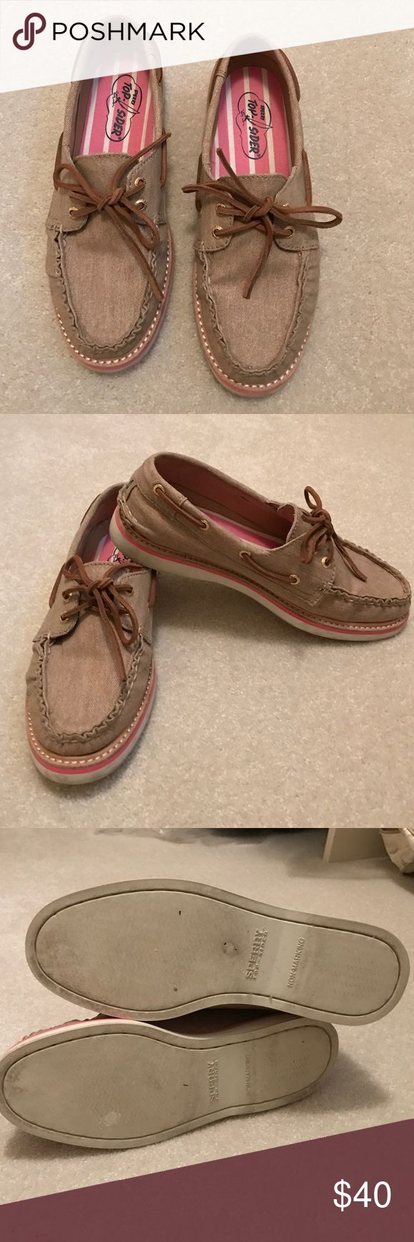 Sperry Top Sider canvas shoe Barely worn Sperry Top Sider shoes. Sperry Top-Sider Shoes Flats & Loafers