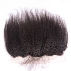Lace Frontal With Baby Hair 100% Unprocessed Virgin Peruvian Hair Lace Frontal With Baby Hair 13 X 4 Lace Frontal Kinky Straight Bleached Knots In Stock