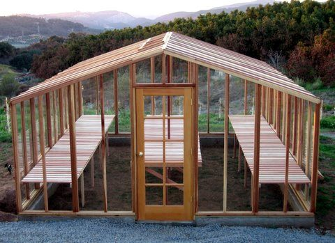 how to build a greenhouse out of wood