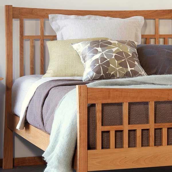 Contemporary Craftsman High Footboard Platform Bed | Trundle Option