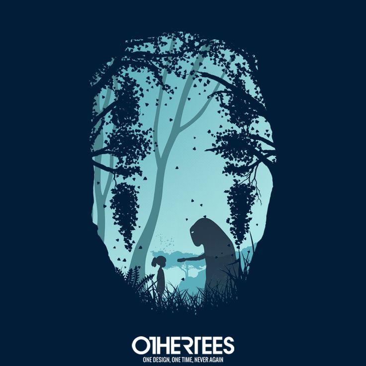 """Lonely Spirit"" by filiskun T-shirts, Tank Tops, Sweatshirts and Hoodies are on sale until December 8th at www.OtherTees.com Pin it for a chance at a FREE TEE #Ghibli #StudioGhibli #HayaoMiyazaki #Miyazaki #SpiritedAway #NoFace #Kaonashi #OtherTees"