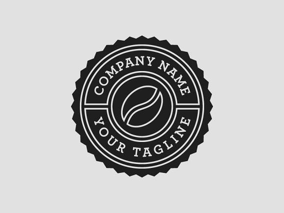 Coffee Shop Logo Template PSD by psdblast on @creativemarket