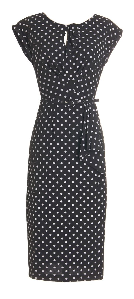 Polka dot pencil dress