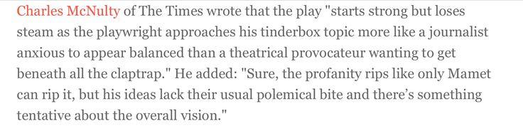 "#CharlesMcNulty's review of David Mamet's play, ""Race"" 2009-2010. (#Spader, #KerryWashington, #RichardThomas, #DavidAlanGrier)"