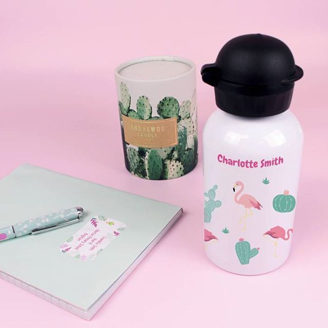 All set for school, with our personalised water bottles and school supplies labels! 🌸  _    #kids #backtoschool #schoolsupplies #labelling #petitfernand