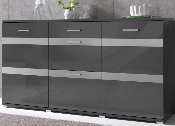 Sideboard Grau Hochglanz Fronten FSCR Zertifiziert Yourhome Jetzt Bestellen Unter Moebelladendirektde Wohnzimmer Schraenke Sideboards Uid